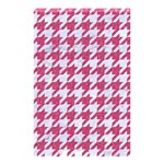 HOUNDSTOOTH1 WHITE MARBLE & PINK DENIM Shower Curtain 48  x 72  (Small)  42.18 x64.8 Curtain
