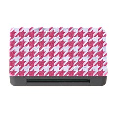 Houndstooth1 White Marble & Pink Denim Memory Card Reader With Cf