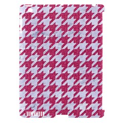 Houndstooth1 White Marble & Pink Denim Apple Ipad 3/4 Hardshell Case (compatible With Smart Cover)