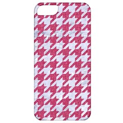 Houndstooth1 White Marble & Pink Denim Apple Iphone 5 Classic Hardshell Case