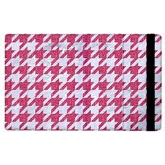 Houndstooth1 White Marble & Pink Denim Apple Ipad 3/4 Flip Case by trendistuff