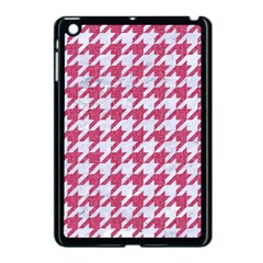 Houndstooth1 White Marble & Pink Denim Apple Ipad Mini Case (black)