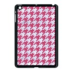 HOUNDSTOOTH1 WHITE MARBLE & PINK DENIM Apple iPad Mini Case (Black) Front