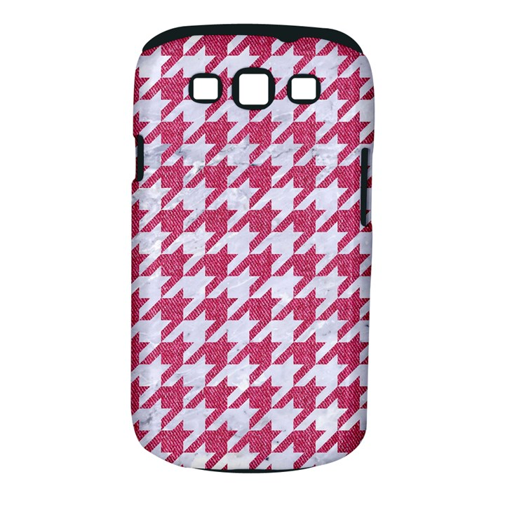 HOUNDSTOOTH1 WHITE MARBLE & PINK DENIM Samsung Galaxy S III Classic Hardshell Case (PC+Silicone)