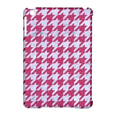 Houndstooth1 White Marble & Pink Denim Apple Ipad Mini Hardshell Case (compatible With Smart Cover)