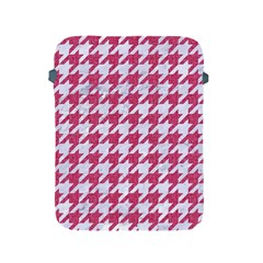 Houndstooth1 White Marble & Pink Denim Apple Ipad 2/3/4 Protective Soft Cases by trendistuff