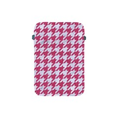 Houndstooth1 White Marble & Pink Denim Apple Ipad Mini Protective Soft Cases by trendistuff