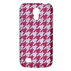 Houndstooth1 White Marble & Pink Denim Galaxy S4 Mini