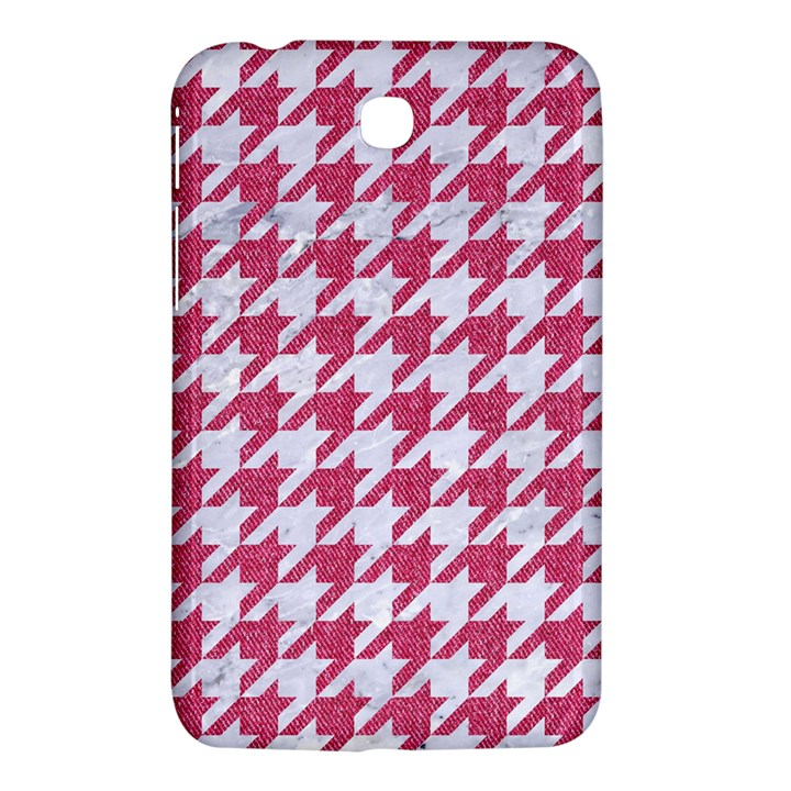 HOUNDSTOOTH1 WHITE MARBLE & PINK DENIM Samsung Galaxy Tab 3 (7 ) P3200 Hardshell Case
