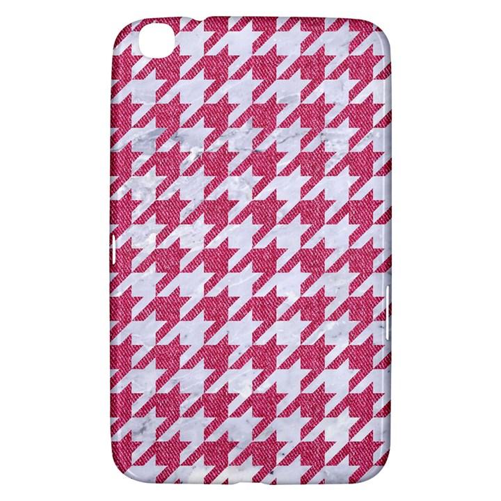 HOUNDSTOOTH1 WHITE MARBLE & PINK DENIM Samsung Galaxy Tab 3 (8 ) T3100 Hardshell Case