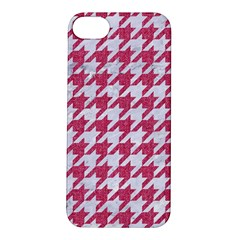 Houndstooth1 White Marble & Pink Denim Apple Iphone 5s/ Se Hardshell Case