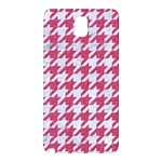 HOUNDSTOOTH1 WHITE MARBLE & PINK DENIM Samsung Galaxy Note 3 N9005 Hardshell Back Case Front