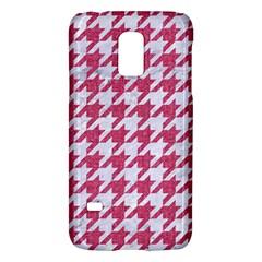 HOUNDSTOOTH1 WHITE MARBLE & PINK DENIM Galaxy S5 Mini