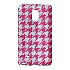 Houndstooth1 White Marble & Pink Denim Galaxy Note Edge
