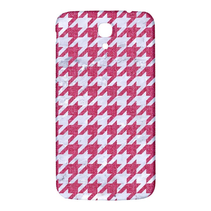 HOUNDSTOOTH1 WHITE MARBLE & PINK DENIM Samsung Galaxy Mega I9200 Hardshell Back Case