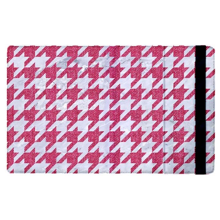 HOUNDSTOOTH1 WHITE MARBLE & PINK DENIM Apple iPad Pro 12.9   Flip Case
