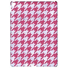 Houndstooth1 White Marble & Pink Denim Apple Ipad Pro 12 9   Hardshell Case
