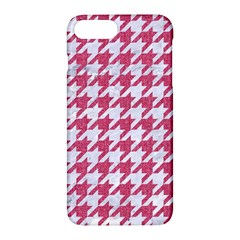 Houndstooth1 White Marble & Pink Denim Apple Iphone 7 Plus Hardshell Case