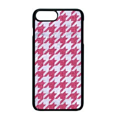 Houndstooth1 White Marble & Pink Denim Apple Iphone 7 Plus Seamless Case (black)
