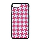 HOUNDSTOOTH1 WHITE MARBLE & PINK DENIM Apple iPhone 7 Plus Seamless Case (Black) Front