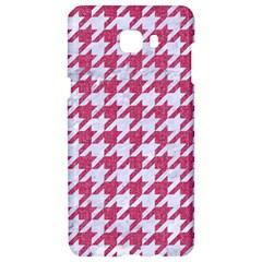 Houndstooth1 White Marble & Pink Denim Samsung C9 Pro Hardshell Case  by trendistuff