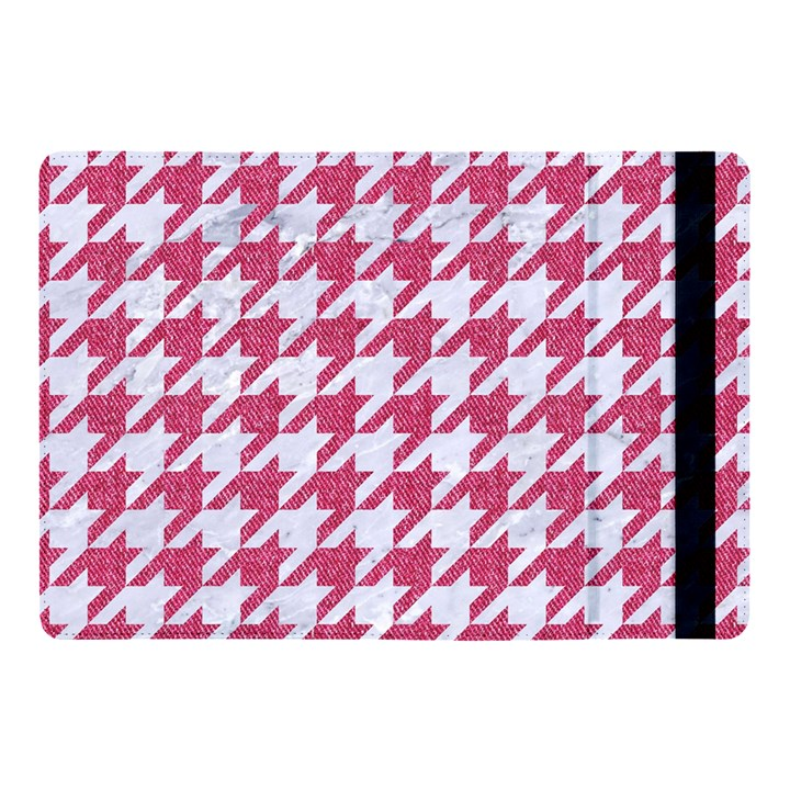 HOUNDSTOOTH1 WHITE MARBLE & PINK DENIM Apple iPad Pro 10.5   Flip Case