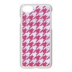 HOUNDSTOOTH1 WHITE MARBLE & PINK DENIM Apple iPhone 8 Seamless Case (White) Front