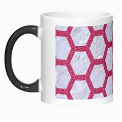 HEXAGON2 WHITE MARBLE & PINK DENIM (R) Morph Mugs