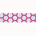 HEXAGON2 WHITE MARBLE & PINK DENIM (R) Large Bar Mats 34 x9.03 Bar Mat - 1
