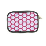 HEXAGON2 WHITE MARBLE & PINK DENIM (R) Coin Purse Back