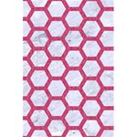 HEXAGON2 WHITE MARBLE & PINK DENIM (R) 5.5  x 8.5  Notebooks Back Cover
