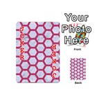 HEXAGON2 WHITE MARBLE & PINK DENIM (R) Playing Cards 54 (Mini)  Front - Joker2