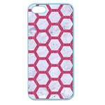 HEXAGON2 WHITE MARBLE & PINK DENIM (R) Apple Seamless iPhone 5 Case (Color) Front