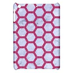 Hexagon2 White Marble & Pink Denim (r) Apple Ipad Mini Hardshell Case