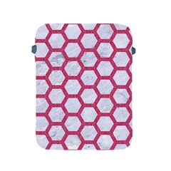 Hexagon2 White Marble & Pink Denim (r) Apple Ipad 2/3/4 Protective Soft Cases