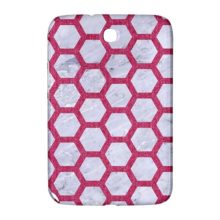 HEXAGON2 WHITE MARBLE & PINK DENIM (R) Samsung Galaxy Note 8.0 N5100 Hardshell Case