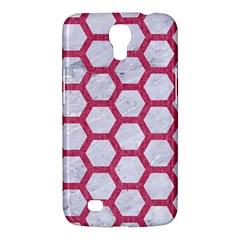 Hexagon2 White Marble & Pink Denim (r) Samsung Galaxy Mega 6 3  I9200 Hardshell Case