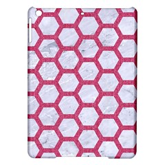 Hexagon2 White Marble & Pink Denim (r) Ipad Air Hardshell Cases