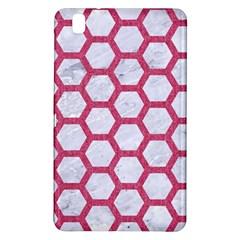 HEXAGON2 WHITE MARBLE & PINK DENIM (R) Samsung Galaxy Tab Pro 8.4 Hardshell Case
