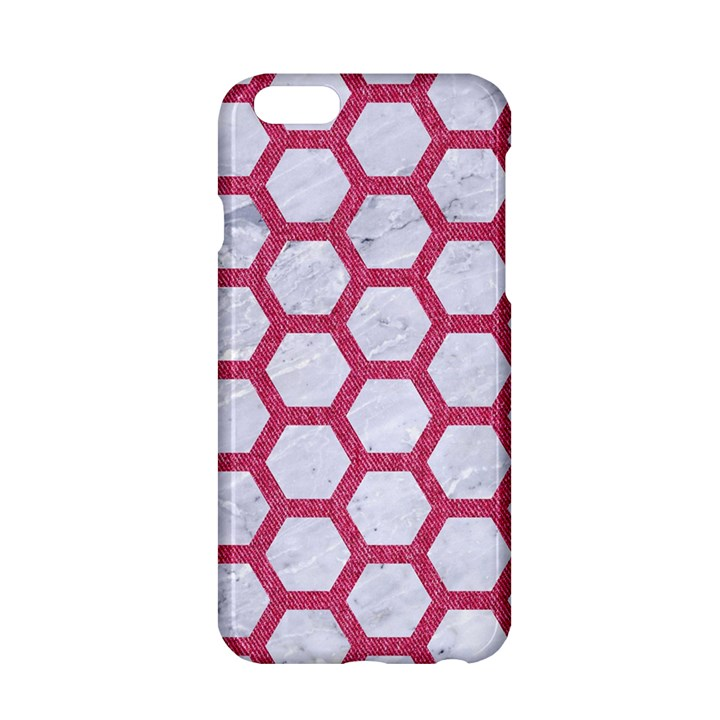 HEXAGON2 WHITE MARBLE & PINK DENIM (R) Apple iPhone 6/6S Hardshell Case
