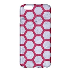 Hexagon2 White Marble & Pink Denim (r) Apple Iphone 6 Plus/6s Plus Hardshell Case by trendistuff