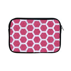 Hexagon2 White Marble & Pink Denim Apple Ipad Mini Zipper Cases by trendistuff