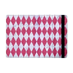 Diamond1 White Marble & Pink Denim Apple Ipad Mini Flip Case by trendistuff