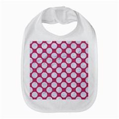 Circles2 White Marble & Pink Denim Bib by trendistuff