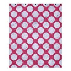 Circles2 White Marble & Pink Denim Shower Curtain 60  X 72  (medium)  by trendistuff