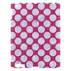 Circles2 White Marble & Pink Denim Apple Ipad 3/4 Hardshell Case by trendistuff