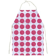 Circles1 White Marble & Pink Denim (r) Full Print Aprons by trendistuff