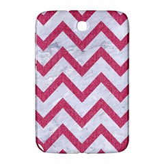 Chevron9 White Marble & Pink Denim (r) Samsung Galaxy Note 8 0 N5100 Hardshell Case  by trendistuff