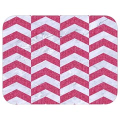 Chevron2 White Marble & Pink Denim Full Print Lunch Bag by trendistuff