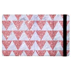 Triangle2 White Marble & Pink Glitter Apple Ipad Pro 9 7   Flip Case by trendistuff